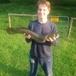 A Bowfin caught at Paw Print Lake