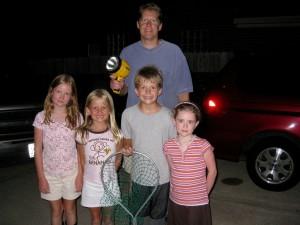family frog hunt